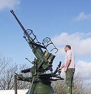 Fully restored single barrel Borors 40mm AA gun